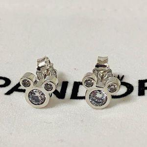 Pandora Mickey Zircon Earrings